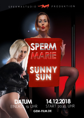 Produktion Sperm Marie & Sunny Sun 14.12.2018 Spermastudio
