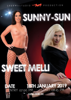 Production with Sweet Melli and Sunny Sun at 18th January 2019 Spermastudio