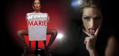 Jolie Noir und Sperm Marie am 05. April 2019 im Spermastudi