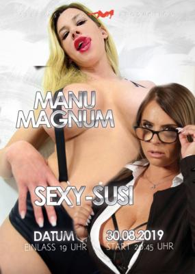 Produktion mit Sexy-Susi und Manu Magnum am 30.08.2019 im Spermastudio.